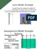 (5637) Auto Regressive Model