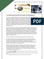 LA COMUNICACIÓN SOCIAL PARA EL DESAROLLO1