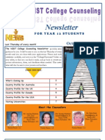 NIST Counsellor Newsletter for Year 12 Students October 20, 2011