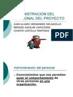 Administración del personal del proyecto
