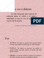 La voz o diátesis