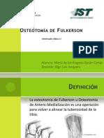 Osteotomía de Fulkerson final