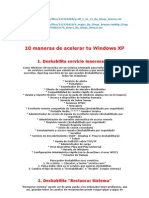 10 Maneras de Acelerar Tu Windows XP
