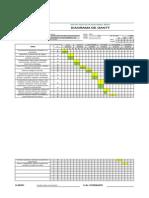 Formato 009 Diagrama de Gantt