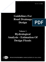 REAM Guidelines for Road Drainage Design - Volume 1