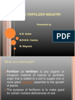 The Fertilizer Industry