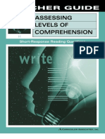 Assesing Level of Comprehension