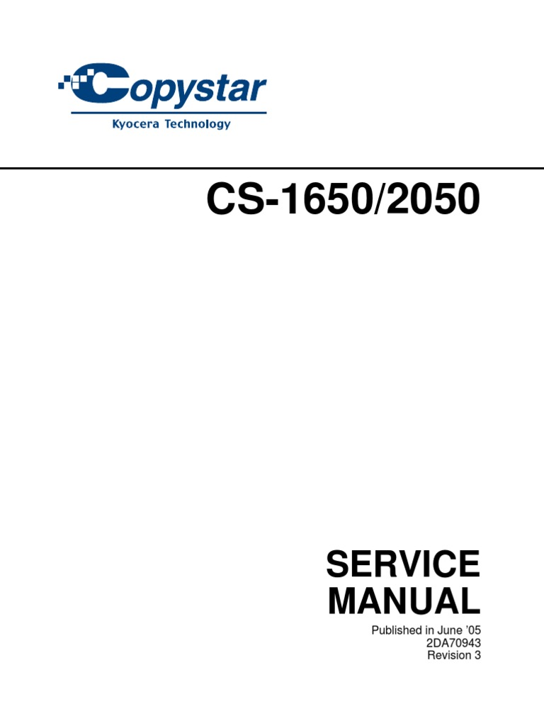 CopyStar 1650 and 2050 Service Manual | Printed Circuit Board | Image  Scanner