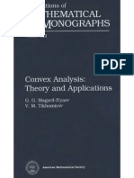 Convex Analysis and Appl