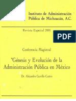 01 Gnesis y Evolucin de La Admin is Trac In Pblica en Mx