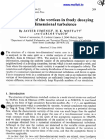 Javier Jimenez, H.K. Moffatt and Carlos Vasco- The structure of the vortices in in freely decaying two-dimensional turbulence
