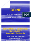 IODINE - Solution to Health Problems