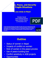 Women, Peace, and Security in Fragile Situations - A Case Study in Nepal