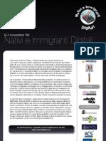 Locandina Nativi e Immigranti Digitali