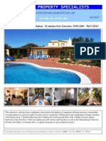 Beautiful 4 bed/4 bath villa in Salicos, 10 minutes from Carvoeiro, Algarve, Portugal