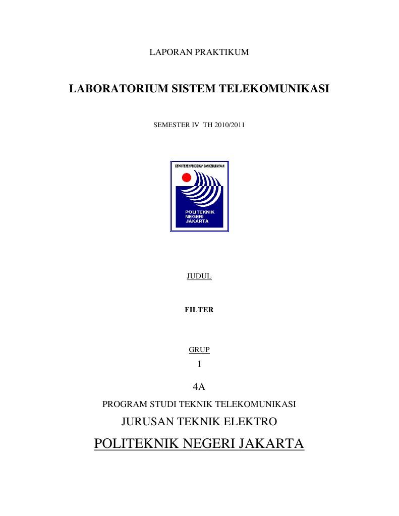 Judul Skripsi Elektro Telekomunikasi Telefon Lasopacafe