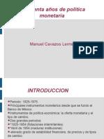 50 año de politica monetaria en mexico