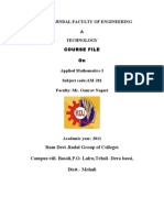 Maths Course File