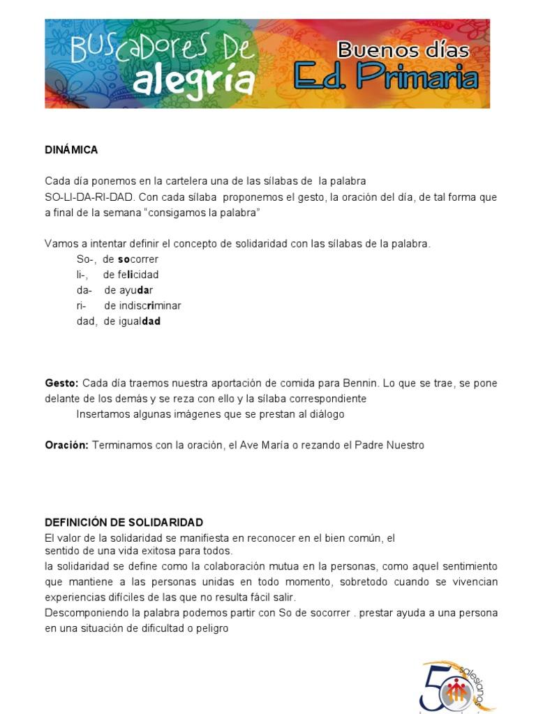 Buenos Dias 12 16 De Diciembre Campana Alimentos Para Bennin
