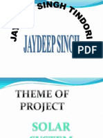Jaydeep Singh Tindori Solar Project for Future