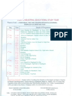 Industrial Visit Schedule
