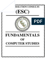 Fundamentals of Computer Studies