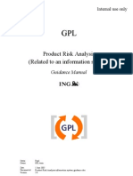Product Risk Analysis (Information System) -- Guidance Manual