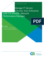CA Ehealth Network Performance Manager