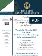 Locandina Lions Cordone Ombelicale