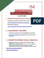 Joan Brossa Protocol de Treball 2011-12