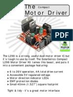 Solarbotics l298 Compact Motor Driver Kit