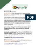 BarCamp Ghana 2011- Press Release