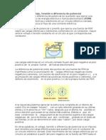 Dif. Potencial Ley de Ohm, Circuitos y Fuerza Electromotriz