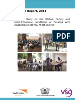 Baseline Survey on the Status, Family and Socio-Economic Status of Persons With Disabilities in Bawku West District [GHANA]