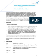 Family Voice Social Media Training 14 12 11 - Event Details