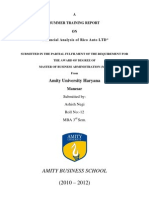 Financial Analysis of RICO AUTO