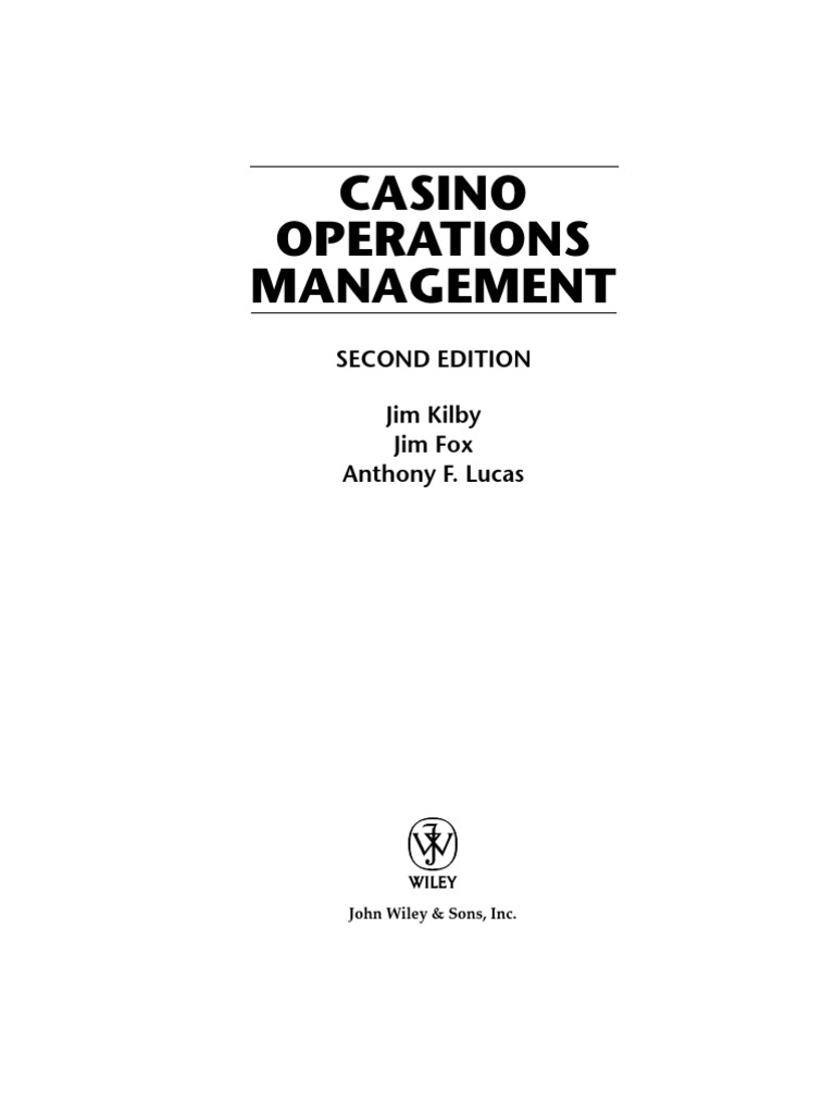 Casino operations management 2nd edition gambling slot machine fandeluxe Image collections
