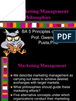 The Marketing Management Philosophies(2)