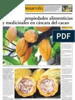 Descubren propiedades alimenticias y medicinales de la cáscara del cacao