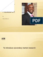 Secondary Research Methods by Thierry Mbenoun1