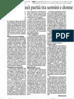 Stipendi e' Quasi Parita' Tra Uomini e Donne_Corriere_6.07.11