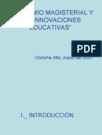 El Gremio Magisterial y Las Innovaciones Educativas