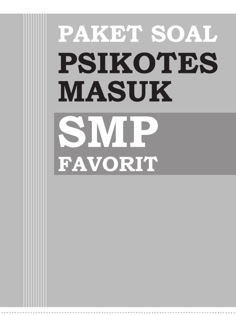 Download Soal Psikotes Smp