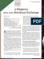 Cranmer's Elegance and the Wondrous Exchange
