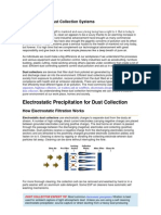 Electrostatic Precipitation for Dust Collection