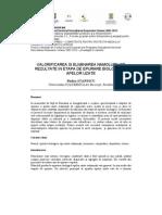 Valorificarea Si Eliminarea Namolurilor Rezultate in Etapa de Epurare Biologica a Apelor Uzate