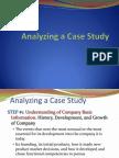 Analyzing a Case Study