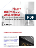 Graduate Program in Urban Policy Analysis and Management