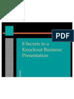 8 Secrets to a Knockout Business Presentation
