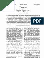 Dinsmoor, J. a. (1995) Stimulus Control - Part I